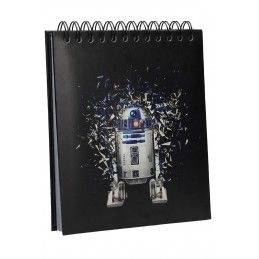 SD TOYS STAR WARS R2-D2 LIGHT N SOUND NOTEBOOK - TACCUINO SUONI E LUCI 19X21CM