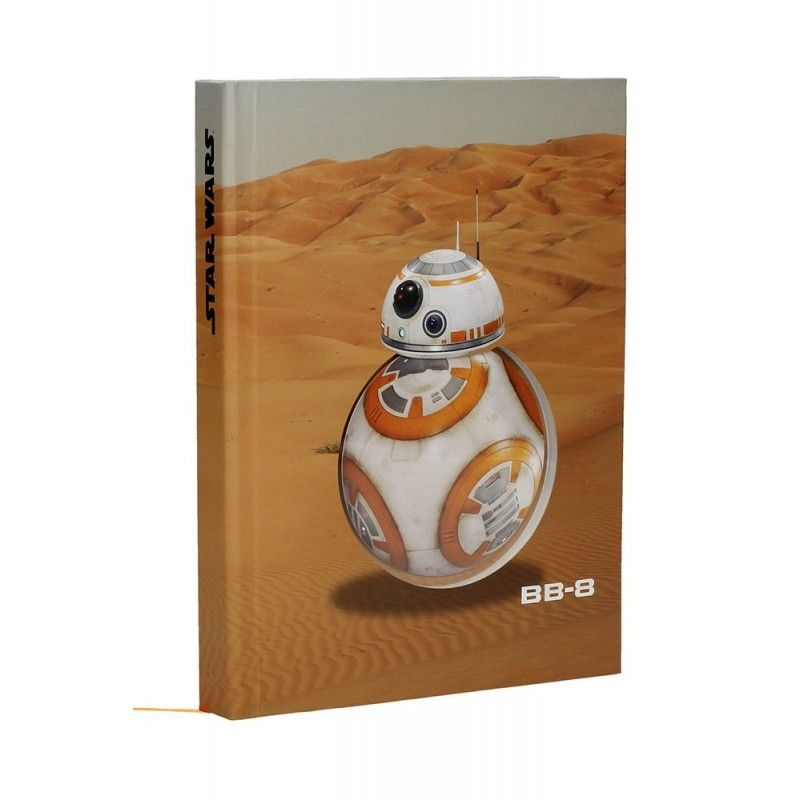 SD TOYS STAR WARS BB-8 LIGHT N SOUND NOTEBOOK - TACCUINO SUONI E LUCI 19X21CM