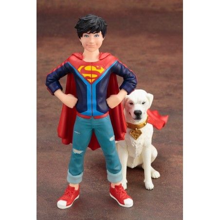 DC COMICS SUPER SONS - JONATHAN KENT AND KRYPTO ARTFX+ STATUE