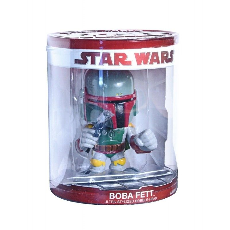 STAR WARS BOBA FETT BOBBLE HEAD ACTION FIGURE FUNKO FORCE