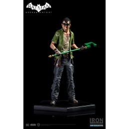 BATMAN ARKHAM KNIGHT - THE RIDDLER L'ENIGMISTA FIGURE STATUE IRON STUDIOS