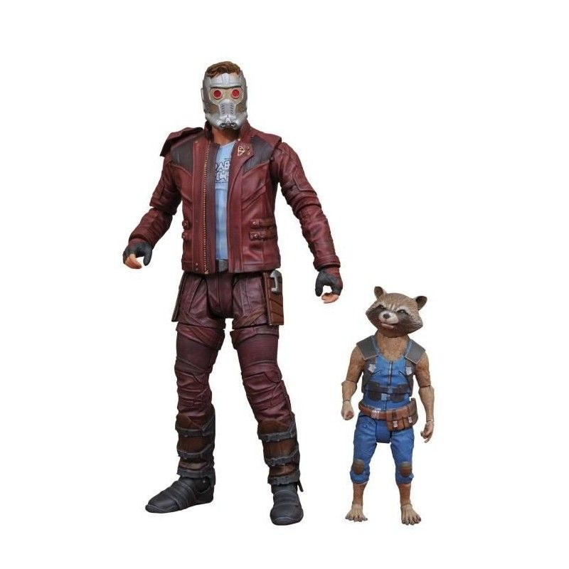 MARVEL SELECT GUARDIANS OF THE GALAXY 2 - STAR-LORD AND ROCKET ACTION FIGURE DIAMOND SELECT