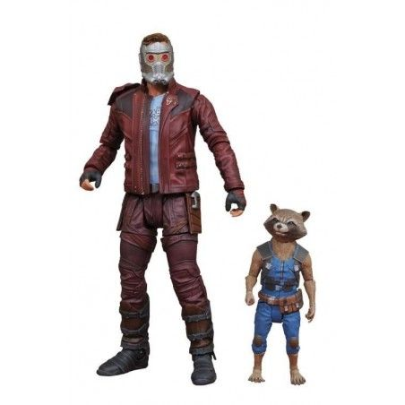 MARVEL SELECT GUARDIANS OF THE GALAXY 2 - STAR-LORD AND ROCKET ACTION FIGURE