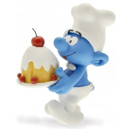 PLASTOY SMURFS I PUFFI COOK SMURF PUFFO CUOCO RESIN STATUE FIGURE