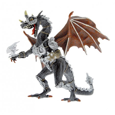 DRAGONS SERIES - GREY ARMORED DRAGON ACTION FIGURE