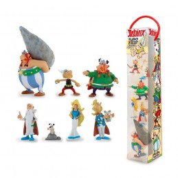 PLASTOY ASTERIX GALLIC VILLAGE TUBE 7 FIGURES GALLI MINI STATUE