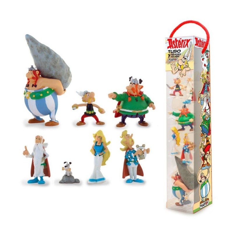 ASTERIX GALLIC VILLAGE TUBE 7 FIGURES GALLI MINI STATUE