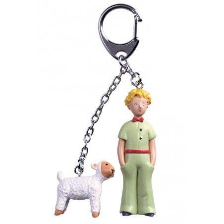 PICCOLO PRINCIPE LITTLE PRINCE PAPILLON AND SHEEP PVC FIGURE KEYCHAIN PORTACHIAVI