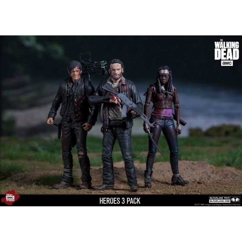 MC FARLANE THE WALKING DEAD MICHONNE RICK AND DARYL 3-PACK ACTION FIGURE