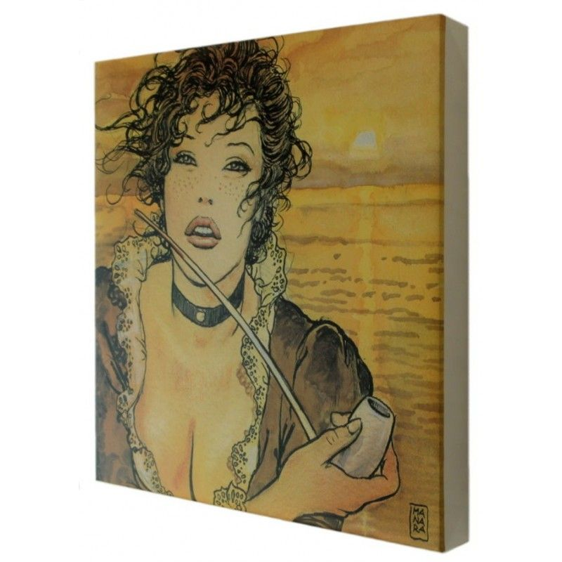 COMIXANDO MILO MANARA ART ON CANVAS - SUNMOLLY GIFT BOX STAMPA SU TELA 23.5X23.5