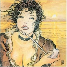 MILO MANARA ART ON CANVAS - SUNMOLLY GIFT BOX STAMPA SU TELA 23.5X23.5 COMIXANDO