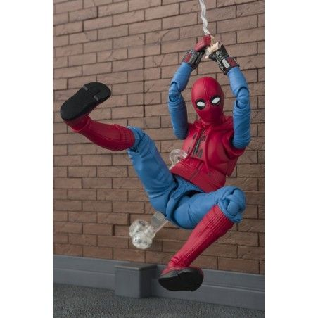 SPIDER-MAN HOMECOMING + WALL S.H. FIGUARTS SHF ACTION FIGURE