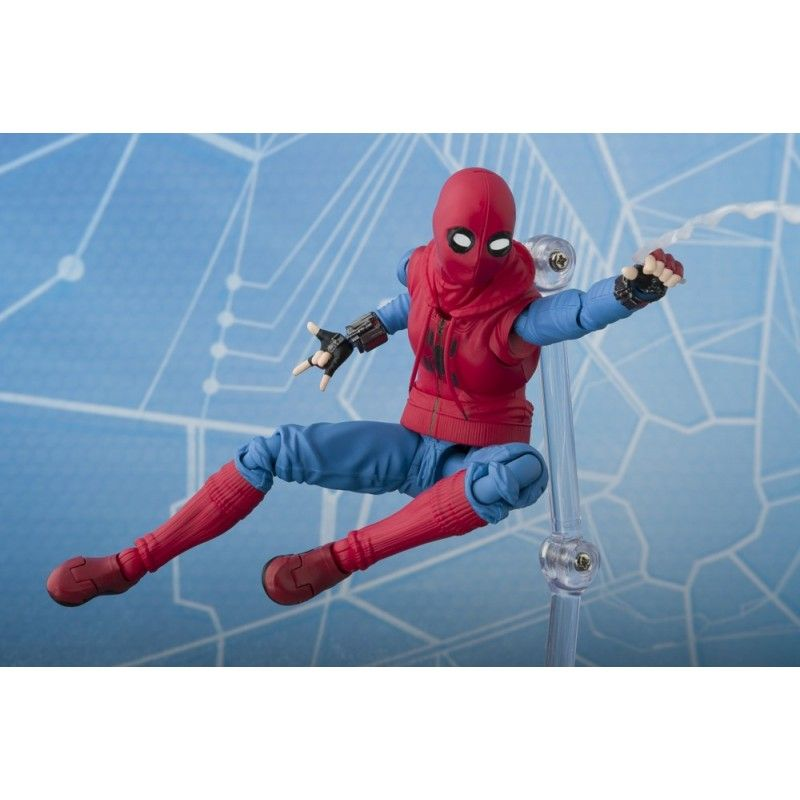 BANDAI SPIDER-MAN HOMECOMING + WALL S.H. FIGUARTS SHF ACTION FIGURE
