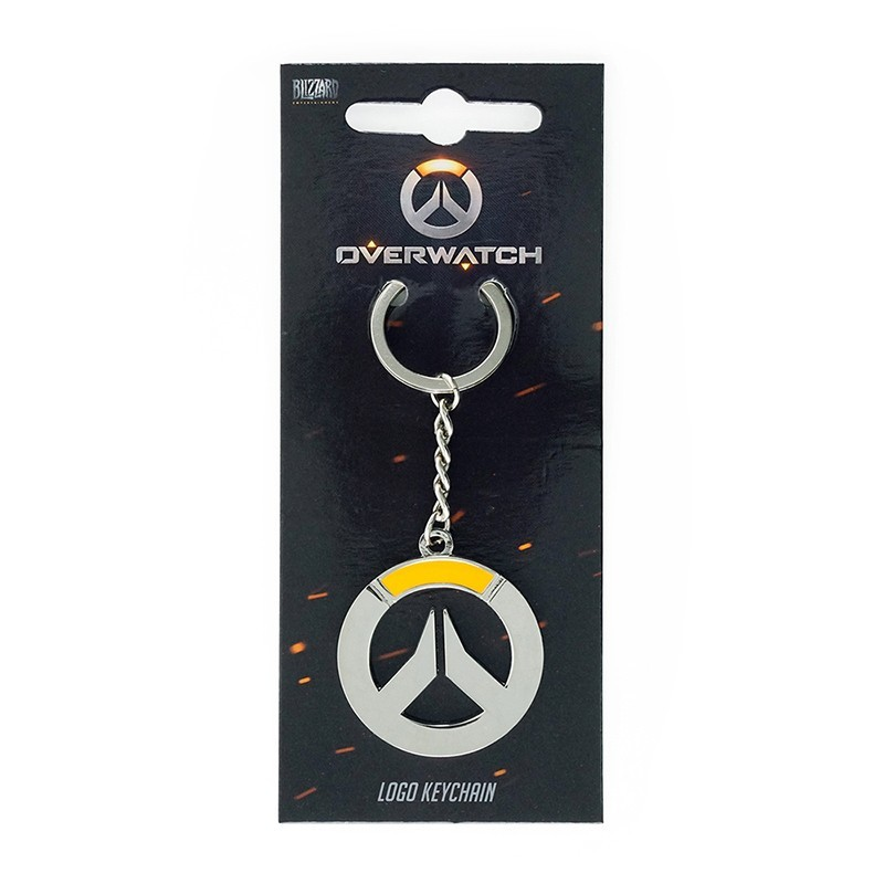 GAYA ENTERTAINMENT OVERWATCH LOGO METAL KEYCHAIN PORTACHIAVI KEYRING