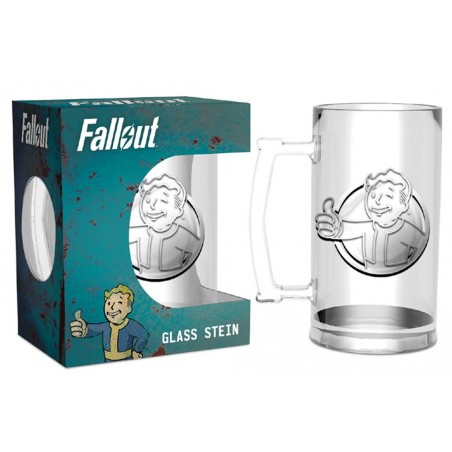 FALLOUT VAULT BOY GLASS STEIN BICCHIERE BOCCALE