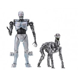 ROBOCOP VS THE TERMINATOR ENDOCOP AND TERMINATOR DOG 2-PACK ACTION FIGURE NECA