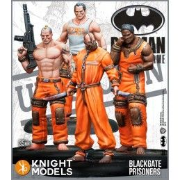 BATMAN MINIATURE GAME - BLACKGATE PRISONERS MINI RESIN STATUE FIGURE KNIGHT MODELS