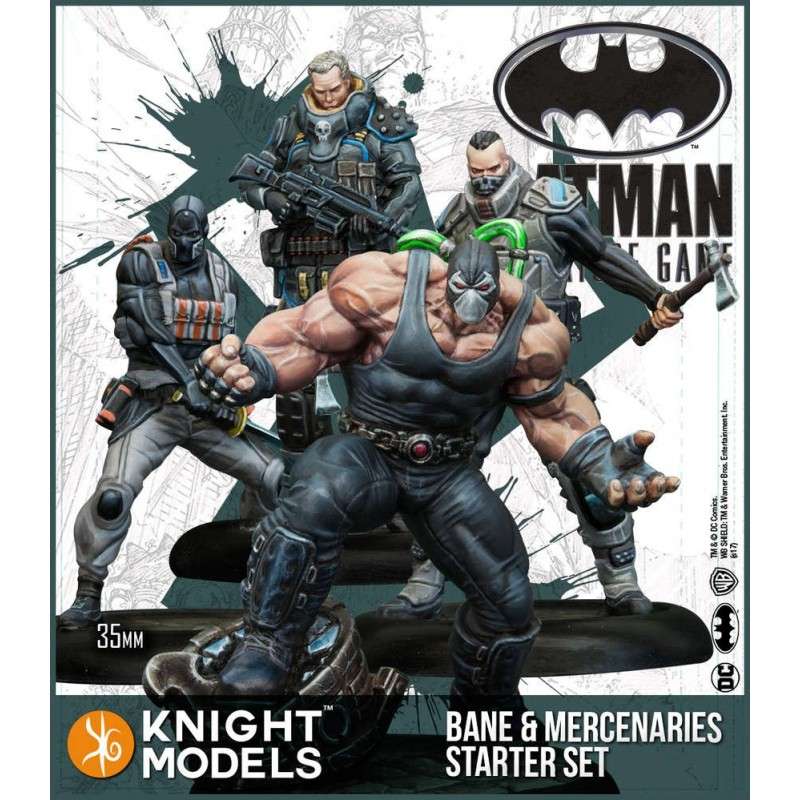 BATMAN MINIATURE GAME - BANE AND MERCENARIES STARTER SET FIGURE