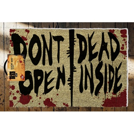 THE WALKING DEAD - DONT OPEN DEAD INSIDE DOORMAT ZERBINO 40X60CM