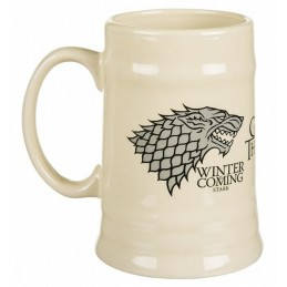 GAME OF THRONES HOUSE STARK CERAMIC STEINS MUG TAZZA BOCCALE