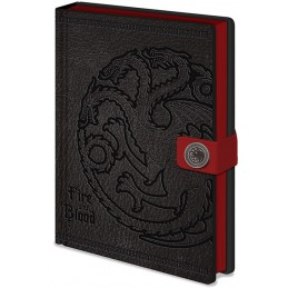 GAME OF THRONES TARGARYEN NOTEBOOK PREMIUM - TACCUINO SIMILPELLE 15X21CM