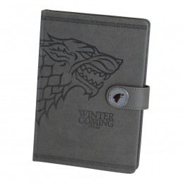 GAME OF THRONES STARK NOTEBOOK PREMIUM - TACCUINO SIMILPELLE 15X21CM