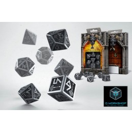 DWARVEN METAL DICE SET 7 DADI IN METALLO