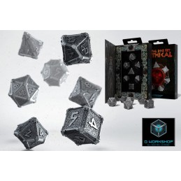 MYTHICAL METAL DICE SET 7 DADI IN METALLO
