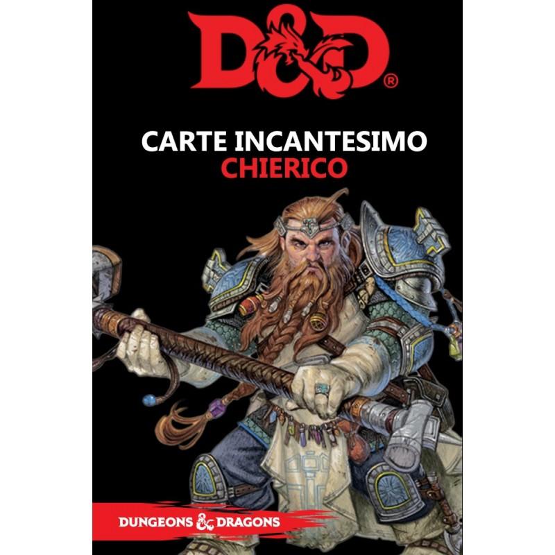DUNGEONS AND DRAGONS 5 EDIZIONE CARTE INCANTESIMO CHIERICO ITALIANO