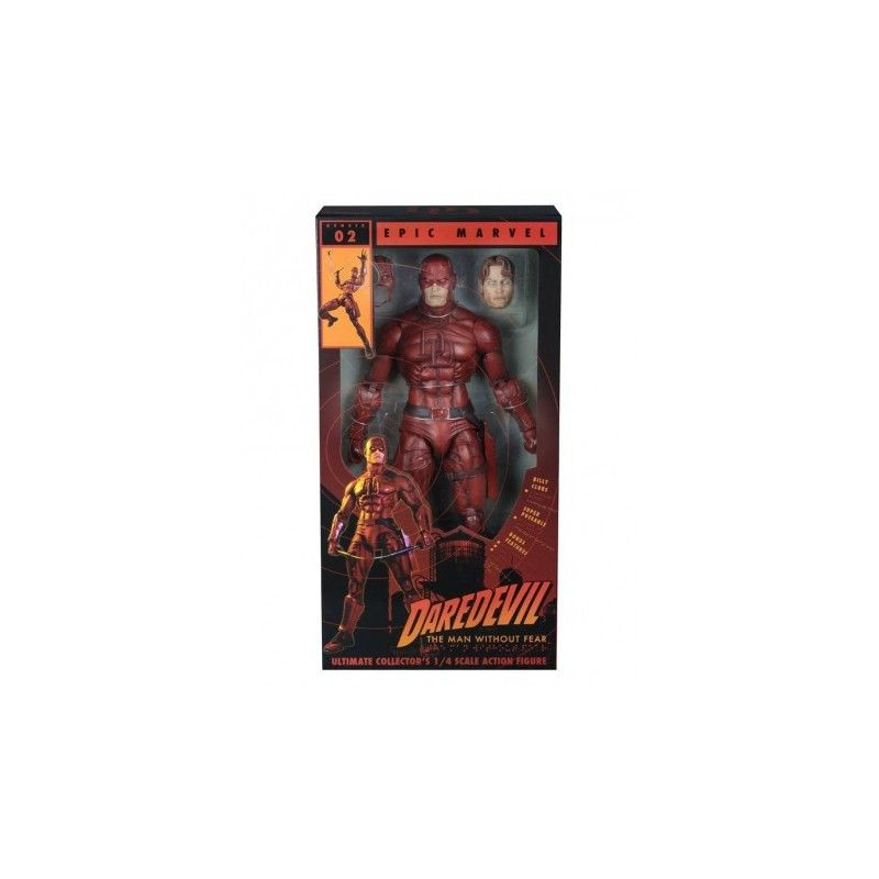 MARVEL CLASSIC DAREDEVIL 45CM SUPER POSEABLE 1/4 ACTION FIGURE NECA