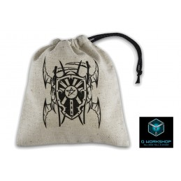 Q WORKSHOP VAMPIRE BEIGE DICE BAG SACCA PER DADI