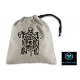 Q WORKSHOP ORC BEIGE DICE BAG SACCA PER DADI