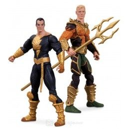 INJUSTICE AQUAMAN VS VERSUS BLACK ADAM TWO PACK ACTION FIGURE DC COLLECTIBLES
