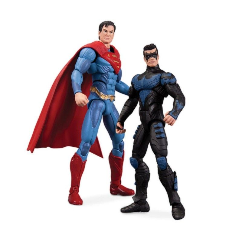 DC COLLECTIBLES INJUSTICE SUPERMAN VS NIGHTWING TWO PACK ACTION FIGURE