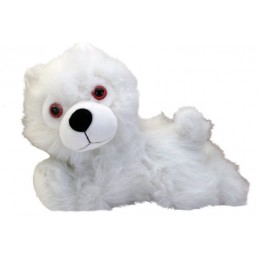 GAME OF THRONES - DIREWOLF CUB PRONE GHOST METALUPO PLUSH 22CM PELUCHE