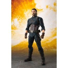 AVENGERS INFINITY WAR - CAPTAIN AMERICA + TAMASHII EFFECT EXPLOSION S.H. FIGUARTS ACTION FIGURE BANDAI