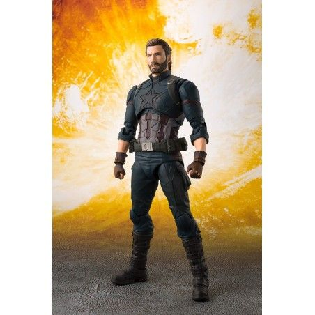 AVENGERS INFINITY WAR - CAPTAIN AMERICA + TAMASHII EFFECT EXPLOSION S.H. FIGUARTS ACTION FIGURE