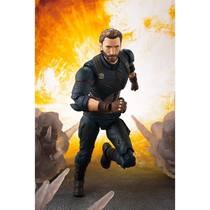 BANDAI AVENGERS INFINITY WAR - CAPTAIN AMERICA + TAMASHII EFFECT EXPLOSION S.H. FIGUARTS ACTION FIGURE