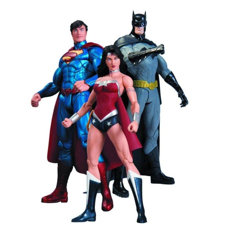 TRINITY WAR SUPERMAN WONDER WOMAN BATMAN ACTION FIGURE 3-PACK