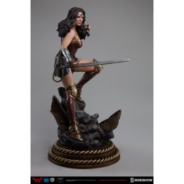 BATMAN V SUPERMAN - WONDER WOMAN PREMIUM FORMAT RESIN STATUE 50 CM SIDESHOW