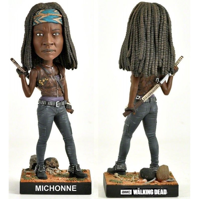 THE WALKING DEAD - MICHONNE HEADKNOCKER BOBBLE HEAD ACTION FIGURE ROYAL BOBBLES