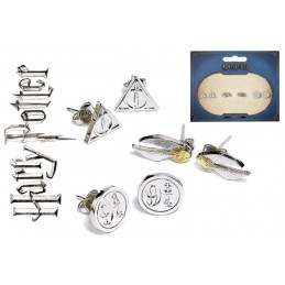 HARRY POTTER - SET OF 3 METAL EARRINGS - 3 PAIA ORECCHINI CARAT