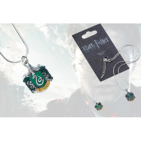 HARRY POTTER - SLYTHERIN CREST NECKLACE SERPEVERDE CIONDOLO IN METALLO