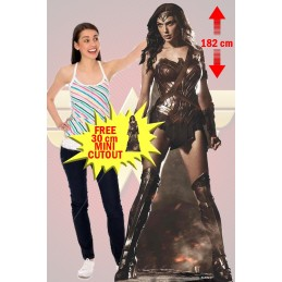 WONDER WOMAN GAL GADOT LIFESIZE CUTOUT STAR