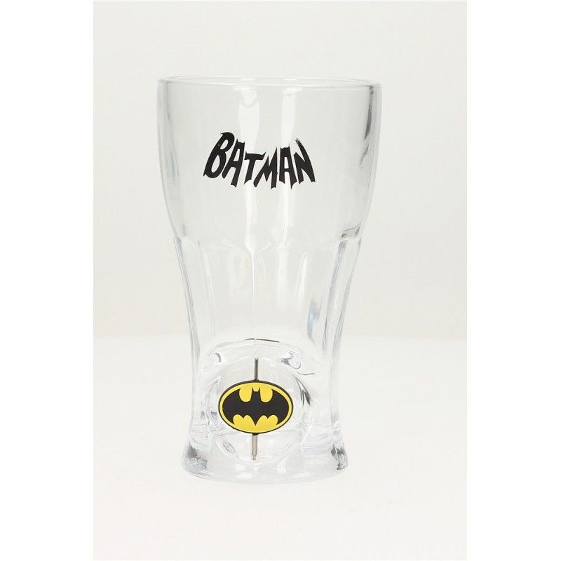BATMAN SPINNING LOGO SODA GLASS BICCHIERE DI VETRO SD TOYS