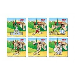 ASTERIX - OLYMPIC GAMES 6 COASTERS SET SOTTOBICCHIERI SD TOYS