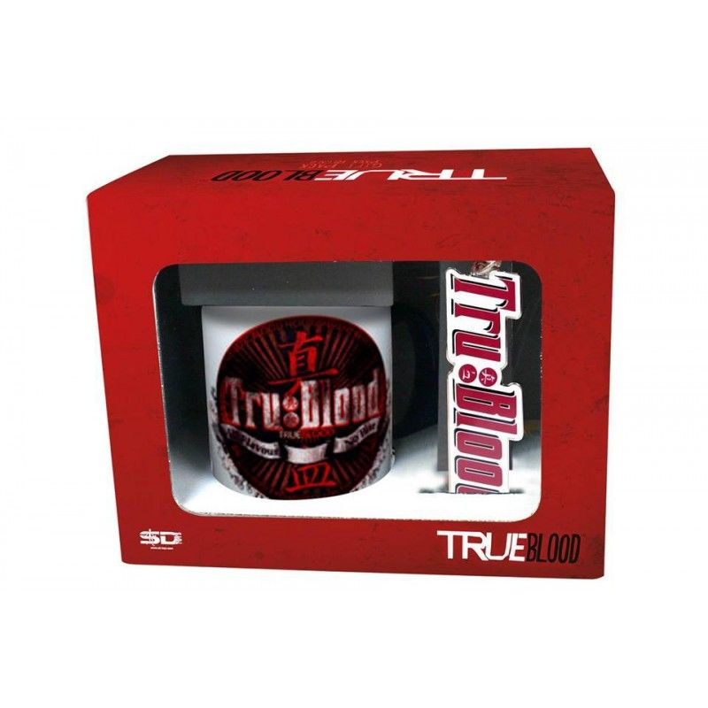 SD TOYS TRUE BLOOD GIFT BOX PACCO REGALO CON BICCHIERE E PORTACHIAVI