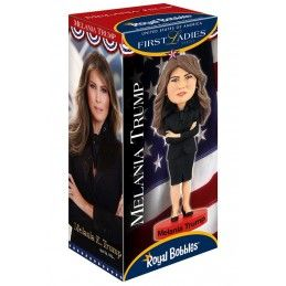 MELANIA TRUMP HEADKNOCKER BOBBLE HEAD ACTION FIGURE ROYAL BOBBLES