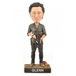 THE WALKING DEAD - GLENN HEADKNOCKER BOBBLE HEAD ACTION FIGURE ROYAL BOBBLES