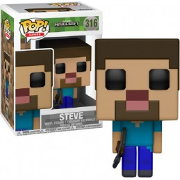FUNKO POP! MINECRAFT - STEVE BOBBLE HEAD KNOCKER FIGURE
